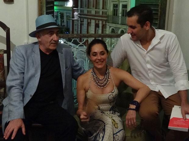 José Possi Neto, Christiane Torloni e Eduardo Ruiz - Fliporto (Foto: Luna Markman / G1)