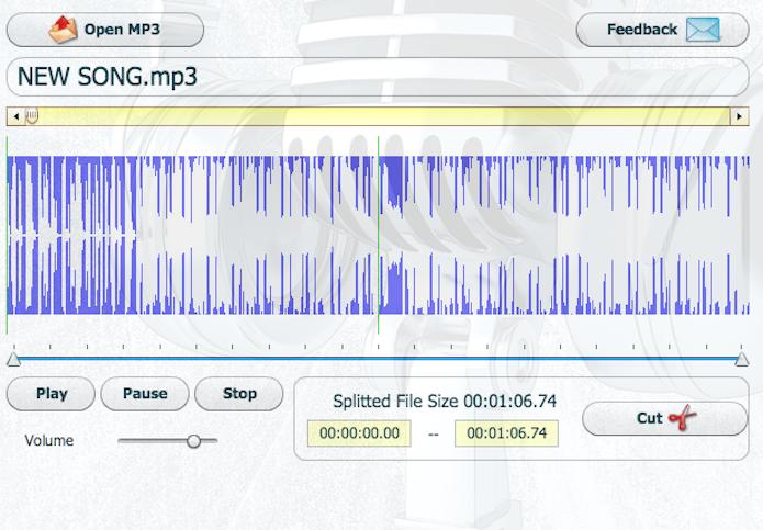 O CutMP3.net é uma ferramenta online que permite cortar trechos de áudios (Foto: Reprodução/Marvin Costa)