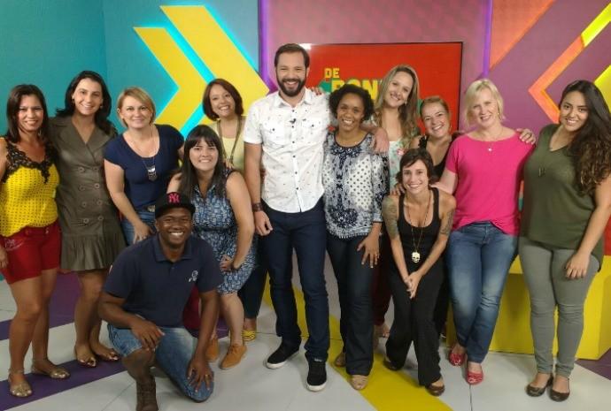 Equipe que participou da produção de chamada do programa (Foto: Reprodução / TV TEM)