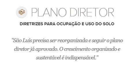 Proposta de Edivaldo Holanda para o Plano Diretor (Foto: G1 Maranhão)