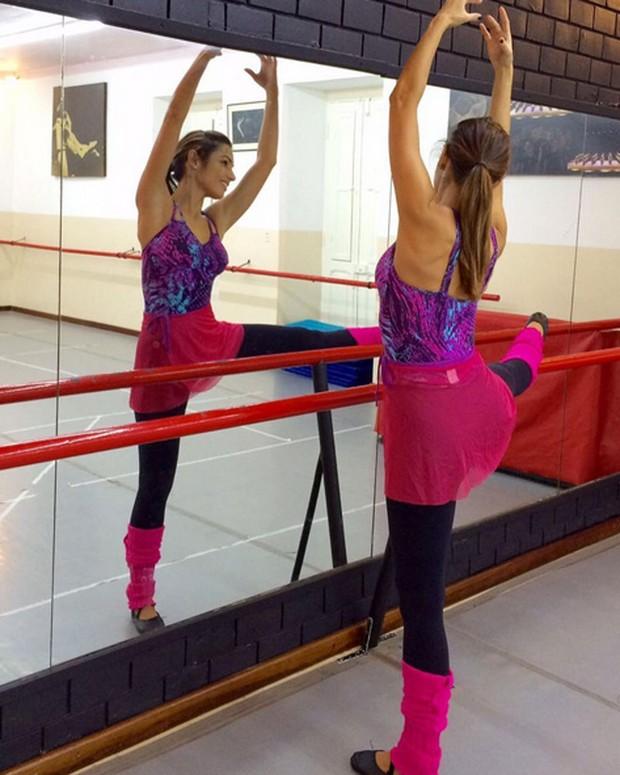 Patrícia Poeta em aula de balé (Foto: Instagram/ Reprodução)