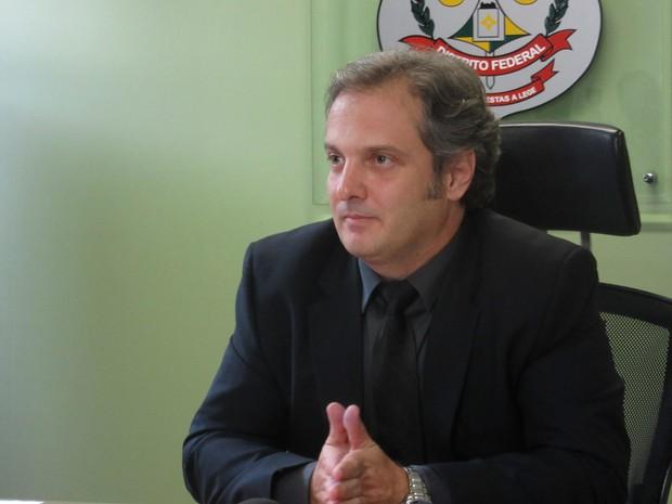 Delegado-chefe da 1ª DP, da Asa Sul, Luiz Alexandre Gratão (Foto: Alexandre Bastos/G1)