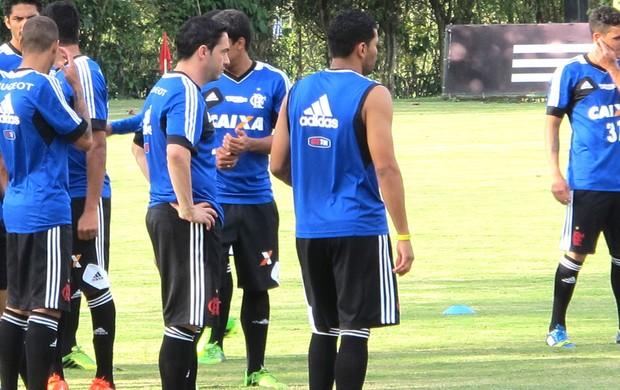 Chicão e Andre Santos Treino Flamengo  (Foto: Richard Souza)