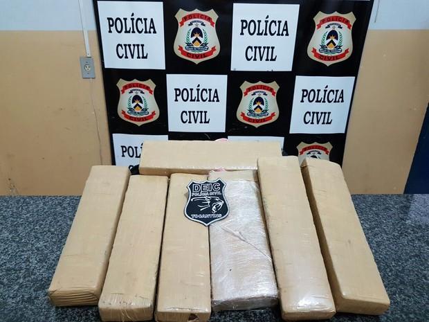 Maconha foi encontrada com casal em Gurupi (Foto: Divulgação/SSP TO)