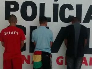 Trio suspeito de crime no Jóquei Clube II (Foto: Assessoria Polícia Civil/ Arquivo)