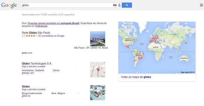 O resultado mostra o endereço desejado (Reprodução/Taysa Coelho)