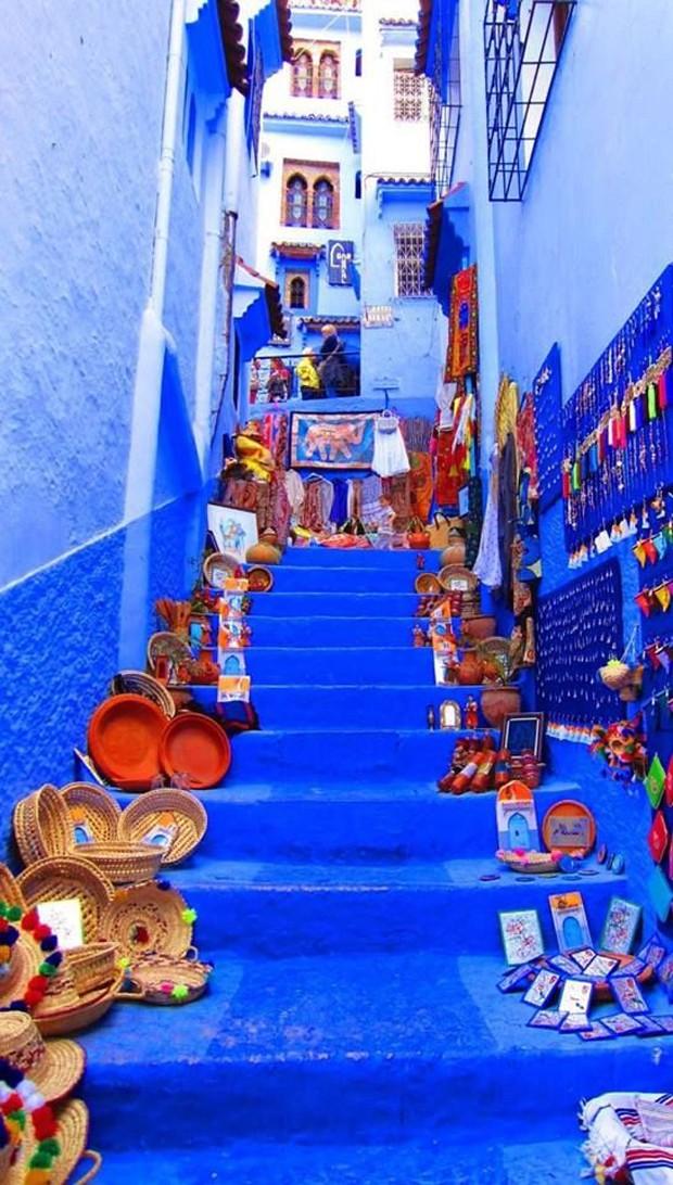 Chefchaouen, Marrocos (Foto: Reprodução / Pinterest)