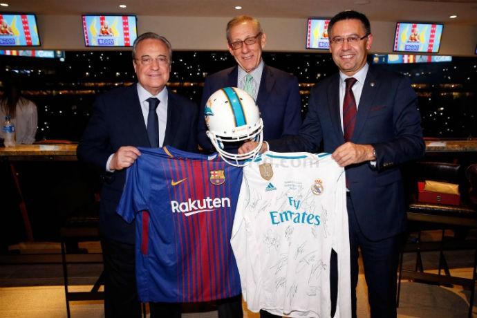 BLOG: Após clássico, presidentes de Real Madrid e Barcelona trocam presentes em Miami