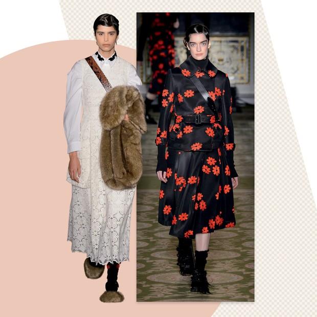 Simone Rocha: A irlandesa tem como desejo máximo vestir mães, filhas e netas com suas criações em estilo vitoriano com atitude (Foto: Divulgação, Reprodução, Getty Images, Studio Ferrazzini Bouchet e Toni Thorimbert)