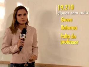 Catarina Martorelli mostra difícil situação da edição pública em Maceió (Foto: Reprodução/ Rede Globo)