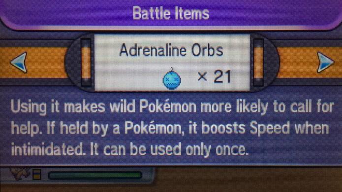 Use o item Adrenaline Orbs no início da luta com o Bagon (Foto: Reprodução/Tais Carvalho)