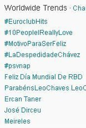 Trending Topics no Mundo às 17h30 (Foto: Reprodução)