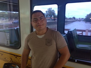 Empresário Rômulo Pereira, concessionário do restaurante no Rio Amazonas, em Macapá (Foto: John Pacheco/G1)