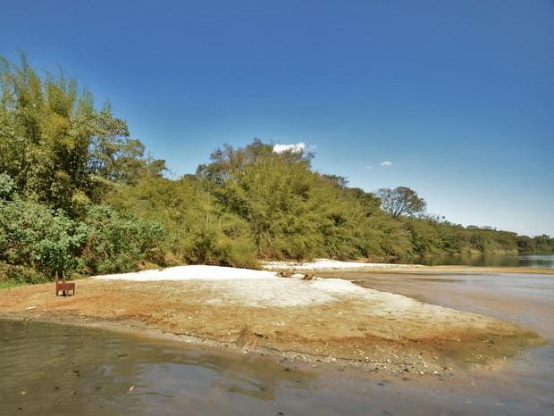 Pontos de assoreamento do Rio Piracicaba são encontrados durante os 150 km de trajeto (Foto: Mauricio Gil/arquivo pessoal)