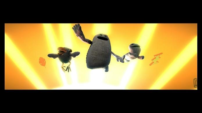 Os três novos heróis da aventura (Foto: Reprodução/Victor Teixeira)