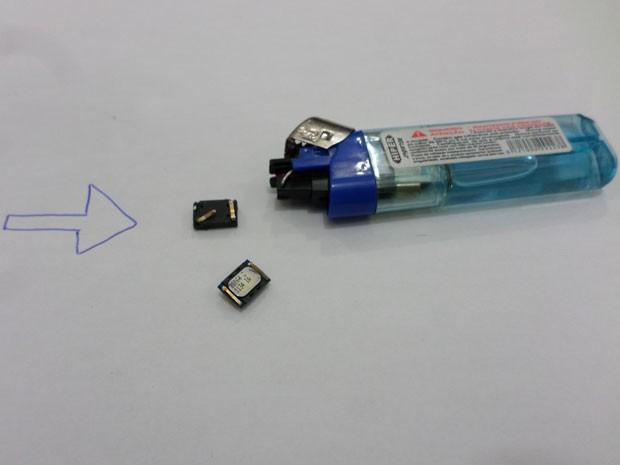 Peças de celulares estavam dentro de isqueiros (Foto: Cedida/SAP)