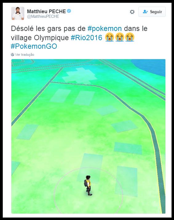 O francês vai ter que esperar junto com os brasileiros para encontrar Pokémons (Foto: Reprodução/Twitter)