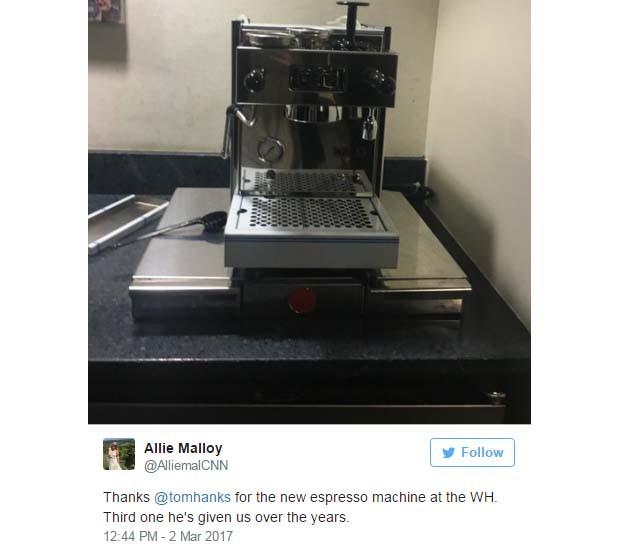 Jornalista Allie Moy agradece a presente enviado por Tom Hanks (Foto: Reprodução Twitter)