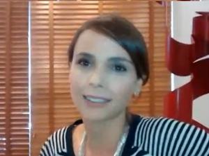 Atriz Débora Falabella em entrevista ao G1 (Foto: Isabella Calzolari/G1)
