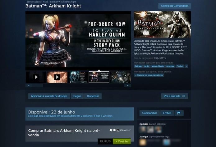 Steam agora permite desistir de jogos obtidos na pré-venda (Foto: Reprodução/Cássio Barbosa)