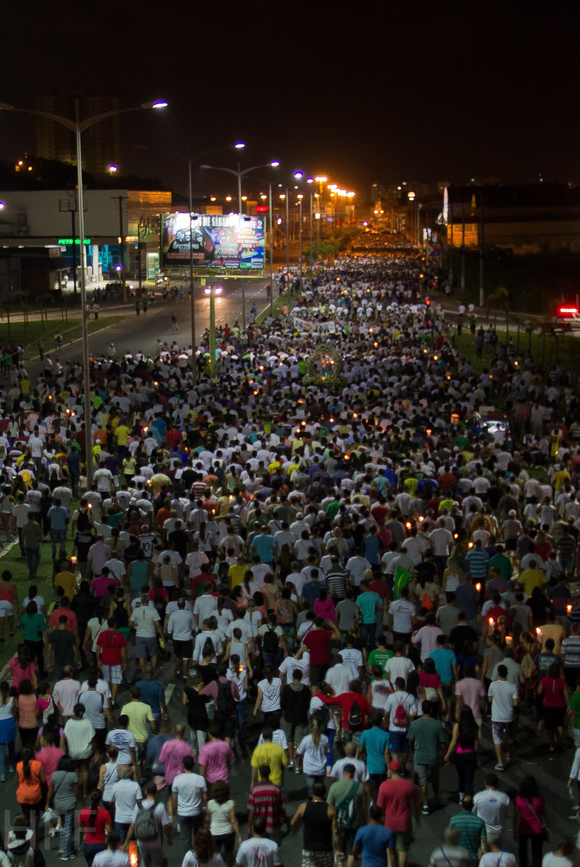 Organização da romaria estima que 500 mil participaram da Romaria dos Homens, no Espírito Santo (Foto: Herone Fernandes Filho/ VC no G1)
