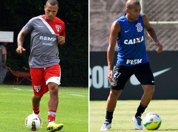 Luis Fabiano e Sheik devem se enfrentar no clássico (Foto: Reprodução globoesporte.com)