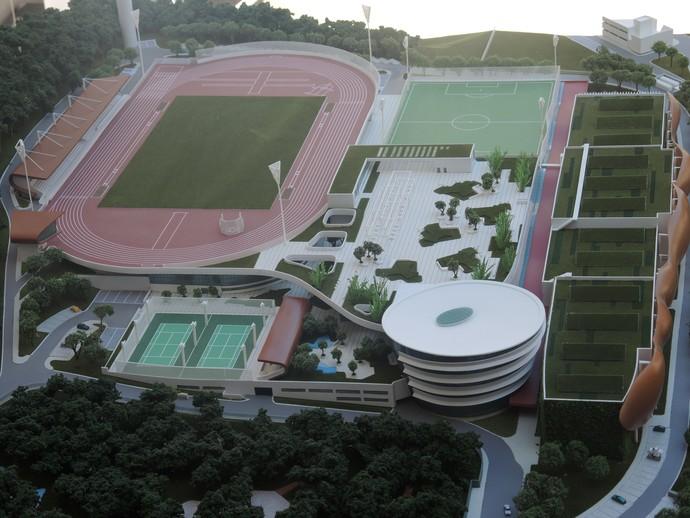 Maquete CT Paralímpico SP (Foto: David Abramvezt)