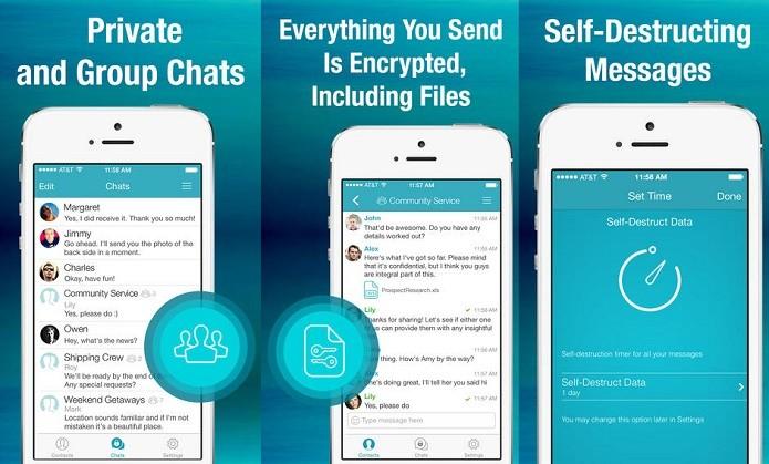 Converse com privacidade e segurança usando o Sicher (Foto: Divulgação/AppStore)