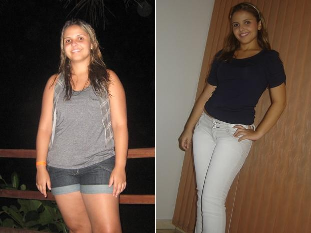 Para a estudante, a força de vontade é a principal dica para quem quer perder peso e adotar um estilo de vida mais saudável (Foto: Arquivo pessoal)