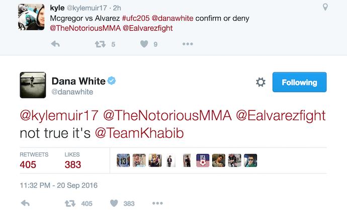 BLOG: Dana nega Alvarez x McGregor no UFC 205 e diz que peso-leve enfrentará Khabib