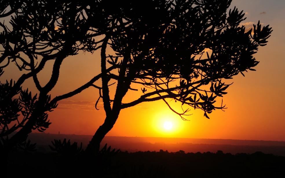 O nascer do sol em Brasília (Foto: Pedro Ventura/GDF/Divulgação)