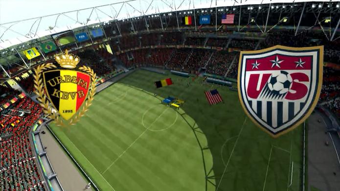 Simulação Copa do Mundo Fifa 2014: Bélgica x Estados Unidos (Foto: Reprodução/Murilo Molina)