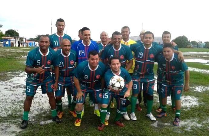 Marcelinho, do Ludogorets, participou de jogo festivo no interior (Foto: Divulgação/João Luiz França)