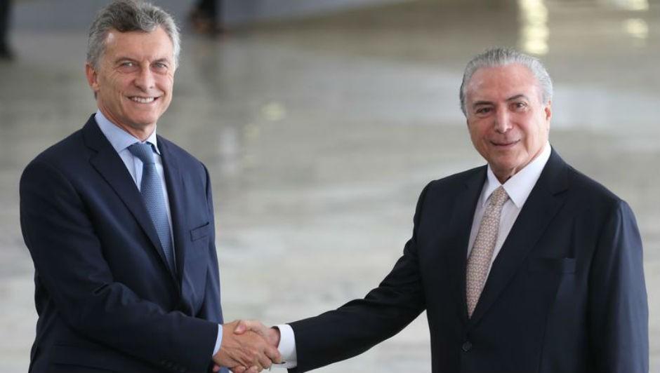 Presidente Michel Temer fez declaração à imprensa durante visita do presidente argentino, Mauricio Macri (Foto: Antonio Cruz/ Agência Brasil)