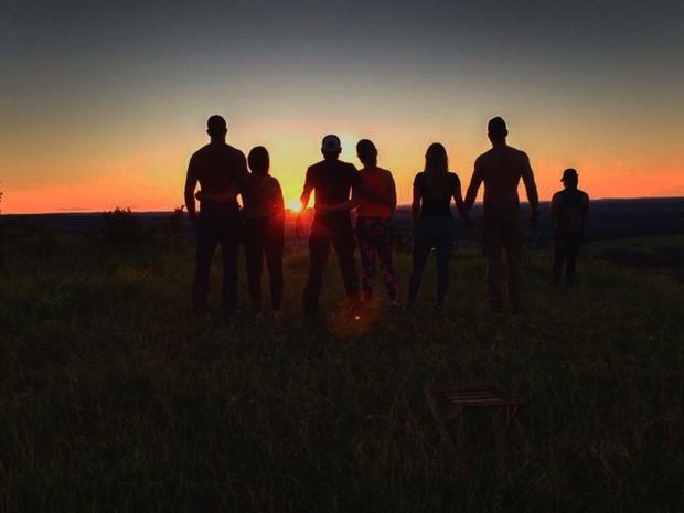 16abc71c9c4ca Pôr do sol no Morro Ernesto atrai visitantes em MS (Foto  Arquivo Pessoal