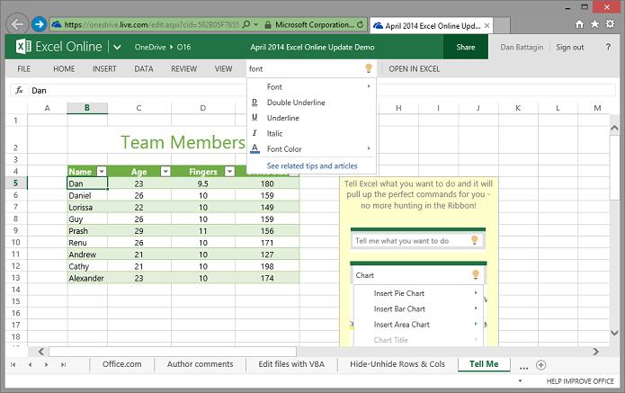 Excel agora tem Tell Me (Foto: Divulgação/Microsoft)