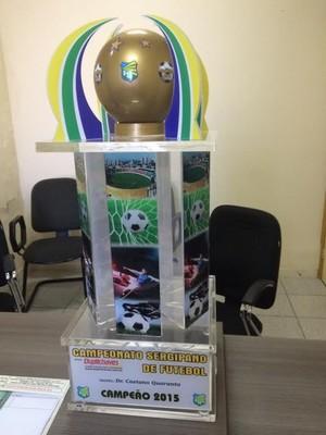 troféu, campeonato sergipano 2015, Federação Sergipana de Futebol (Foto: Reprodução / FSF)