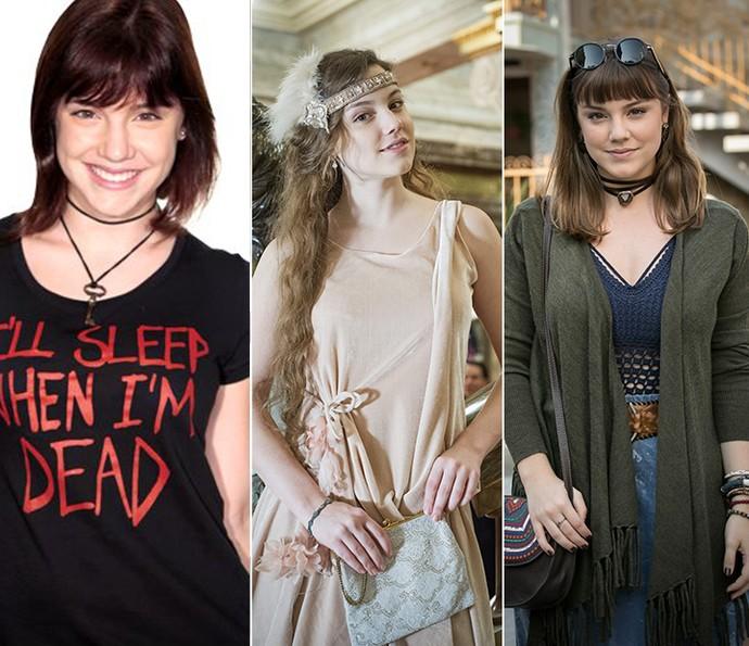 Alice Wegmann em 'Malhação', 'Ligações Perigosas' e 'A Lei do Amor' (Foto: Gshow)