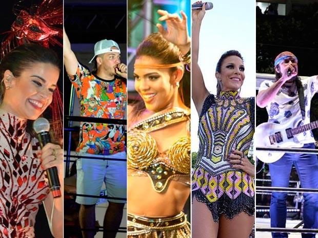 Segundo dia de carnaval em Salvador tem Ivete sem cordas, Safadão e Vingadora (Foto: Montagem/G1)
