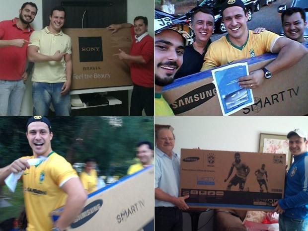 Rafael ganhou três televisões de 50 polegadas e um projetor (Foto: Rafael Gambarim/Arquivo Pessoal)
