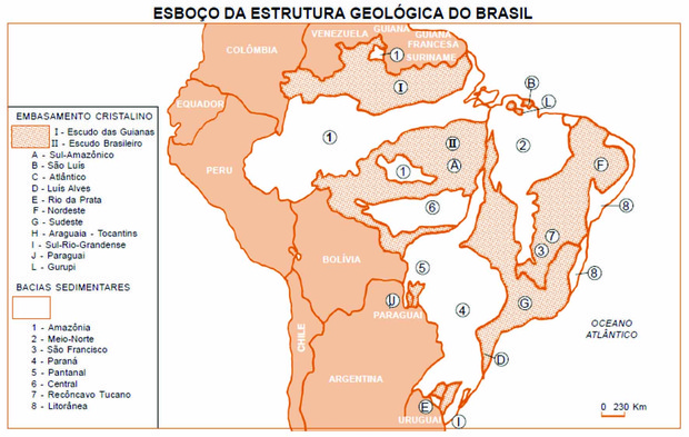 Estrutura Geológica E Mineração Geografia Física