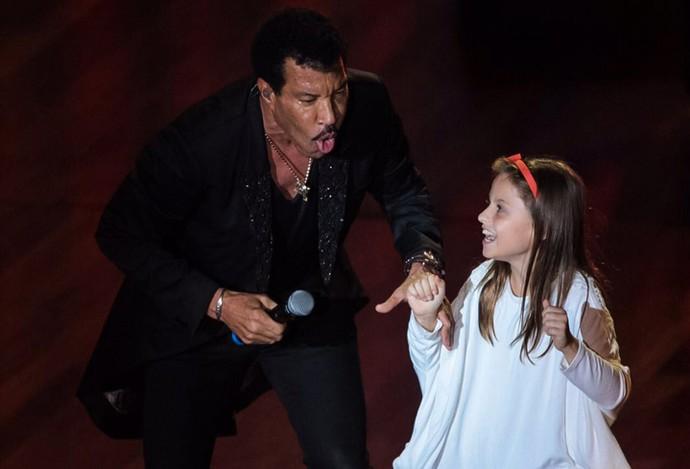 Lionel Richie e Rafa Gomes  Curitiba The Voice Kids (Foto: Naideron Jr)