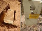 No RN, PM encontra cofre de agência dos Correios enterrado em matagal