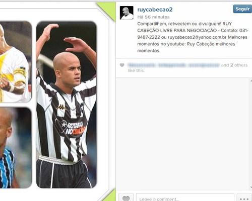 Ruy Cabeção livre pra negociação (Foto: Reprodução / Instagram)