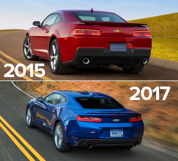 Chevrolet Camaro: antes e depois (Foto: Divulgação)