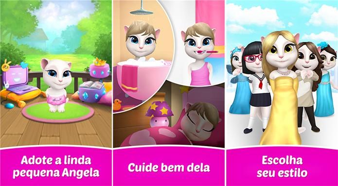 My Talking Angela é um game de bichinho virtual para Windows Phone (Foto: Divulgação/Windows Phone Store)