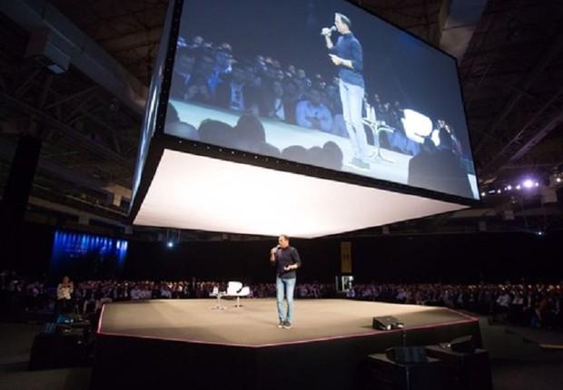 O prefeito de São Paulo, João Doria (PSDB), realiza palestra promovida pela XP Investimentos (Foto: Divulgação)