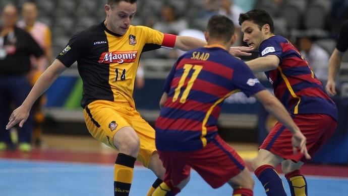 Barcelona Sorocaba semifinal Copa Intercontinental de Futsal (Foto: Quatar Football/Divulgação)