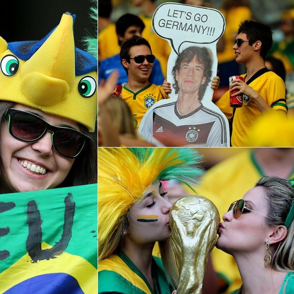 A torcida brasileira lota o Mineirão na tarde desta terça, dia 8, para torcer pela Seleção Brasileira (Foto: Jefferson Bernardes/VIPCOMM)