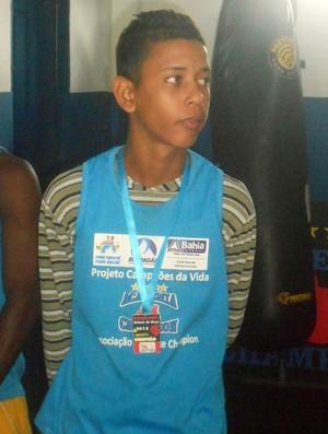 Vinicius Conceição, atleta do projeto social de Luiz Dorea na academia Champion (Foto: Raphael Carneiro)